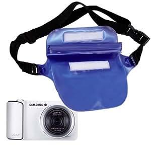 Etui housse étanche (bleu) pour appareil photo numérique compact Samsung Galaxy Camera 2 avec 3G et Wifi ? Garantie 2 ans par DURAGADGET