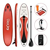 SUNCOO 10ft/3m Inflatable Stand Up Paddle Board (4in/10cm Thick) Non-Slip Deck Adjustable Paddle