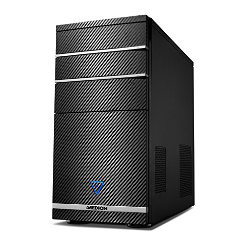 Medion M11 - per PC, Intel Athlon 64 4.0 GHz, NVIDIA GeForce GTX750 - 2 GB DDR5, Disco rigido da 1 TB, 8 GB di RAM) Nero