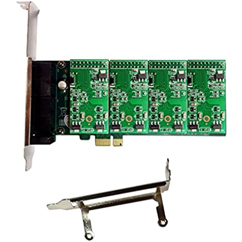 Asterisk Card AXE400PL with 4 FXS Ports,PCI-E Connector,with Low Profile for 2U