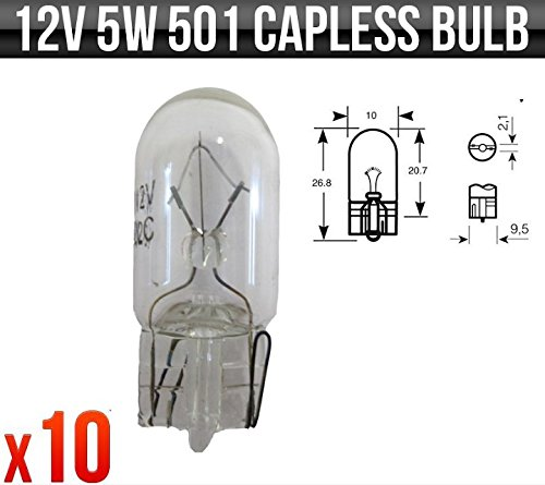 12v-5w-w5w-w21-x-95d-capless-501-yamaha-ybr-125-side-light-bulbs-x-10