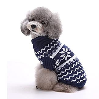 Tuopuda Navidad Mascotas suéter Invierno Perro Nieve Lana del Perrito Traje Caliente Ropa de Abrigo