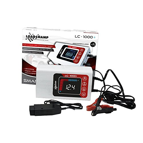 Loadchamp LC1000+ AGM GEL Nass Calcium Lithium Batterie Ladegerät Test & Charge LiFePO4 PKW Motorrad Solar