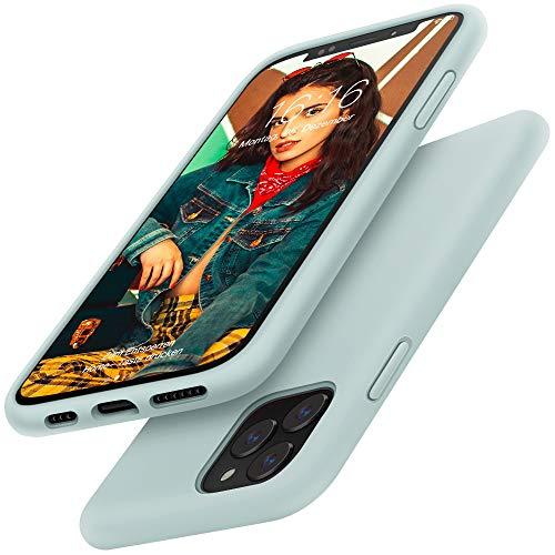 Gorain Hülle für iPhone 11 Pro, Flüssig Silikon Kratzfeste Handyhülle rutschfeste Schutzhülle Schale Stoßfestes Bumper Case Handyschale für iPhone XI/11 Pro 5.8 Zoll - Minze