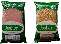 Shelly's Desher Authentic Bengali Masur Dal and Cholar Dal(Pack of 2,1kg Each)