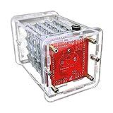 Almencla Keyestudio 4 * 4 * 4 RGB LED Licht Kit Würfel W / 8 * 8 RGB Board Modul Für Arduino Führte