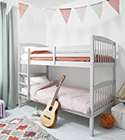 Noa and Nani Bunk Bed Wooden Single Silk Grey Pine Can be split into 2 singles Brighton Grey