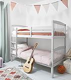 Litera de madera de pino en gris seda, se puede dividir en 2 camas individuales Brighton