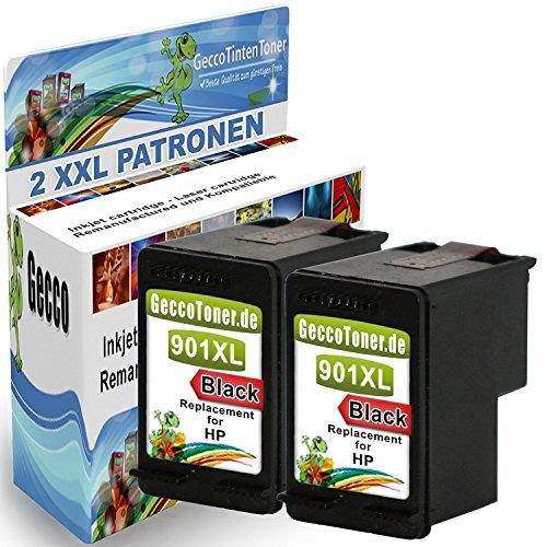Preisvergleich Produktbild Premium 2 Kompatible Tintenpatronen Als Ersatz für HP 901 XL Schwarz Druckerpatronen CC654AE (Schwarz , black , bk) für Officejet J4500 J45600 4500 J4524 J4535 J4540 J4550 J4580 J4600 J4660 J4680 J4624 J4680C g510a g510g druckerpatrone hp g510g druckertinte hp j4580 hp officejet j4580 all-in-one printer Multipack hp officejet 4500 2x901-hpB