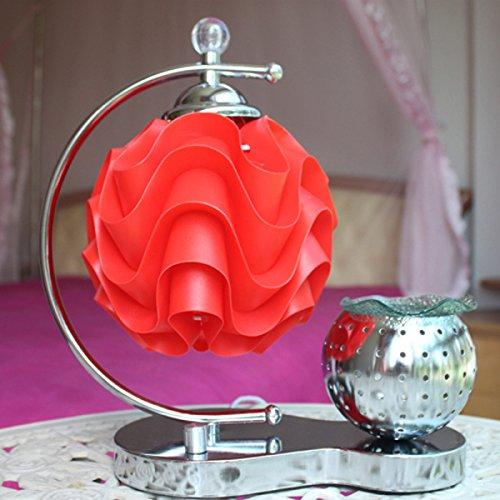 Rot Duftlampe (Schlafzimmer Nachttischlampe Studie Lampe Kreative Mode Dekorative Duftlampe (rot))