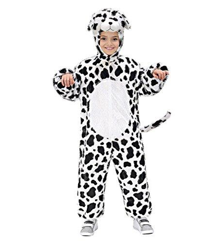 Widmann 9763N - Kinderkostüm Dalmatiner, Overall mit Maske, Größe 134 (Plüsch Dalmatiner Kinder Kostüme)