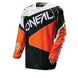 O 'Neal Hardwear MX Jersey Flow negro naranja Moto Cross Moto Enduro Camiseta, 0027F de 50, color negro, naranja, tamaño large