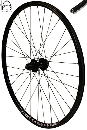 Redondo 28 Zoll Hinterrad Laufrad Fahrrad V-Profil Felge Schwarz 6-Loch Disc
