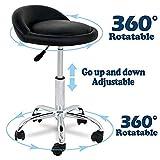 Fobuy Salon Spa Chaise pivotante à gaz Lift Tabouret du visage de massage Tattoo réglable en hauteur Noir, 5roulettes