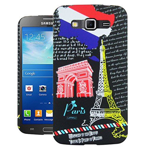 Heartly World Series Printed Design High Quality Hard Bumper Back Case Cover For Samsung Galaxy Grand 2 G7102 G7106 - Black Eiffel Tower  available at amazon for Rs.199