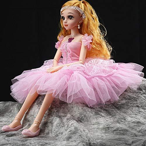 te Puppe Ausländische Puppe Black Eye Singen Puppe Spielzeug Hochzeitskleid Puppe Prinzessin Loli Kleines Mädchen Geburtstagsgeschenk,Pink ()