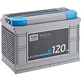 ECTIVE 120Ah 12V AGM Batterie DC 120 VRLA Versorgungsbatterie in 7 Varianten: 70Ah - 230 Ah (wartungsfrei)