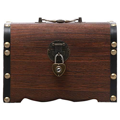 FLOX IqueAntique Safe Money Box Sparschwein Holzspielzeug