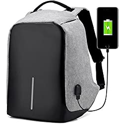 College Backpack, Business Laptop Backpack, Anti-theft Water Resistant Computer USB Charging Port, Lightweight Travel Bag Fit 15.6 Inch Laptops Tablets