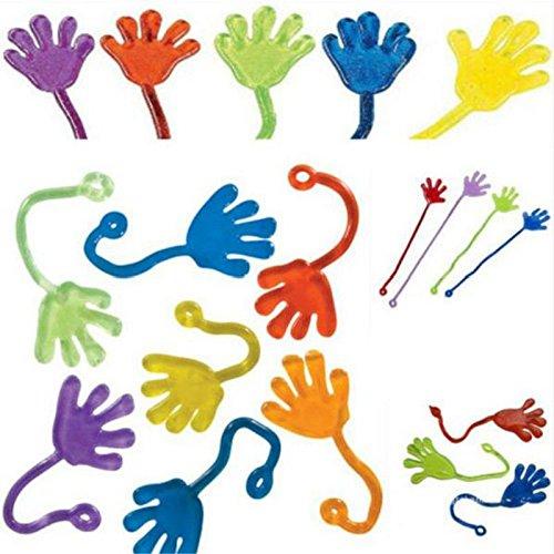 soviton 10 Kids Party Supply Mini Sticky Jelly Stick Gastgeschenken Slap Squishy Hände Spielzeug (Kids Supplies Party)