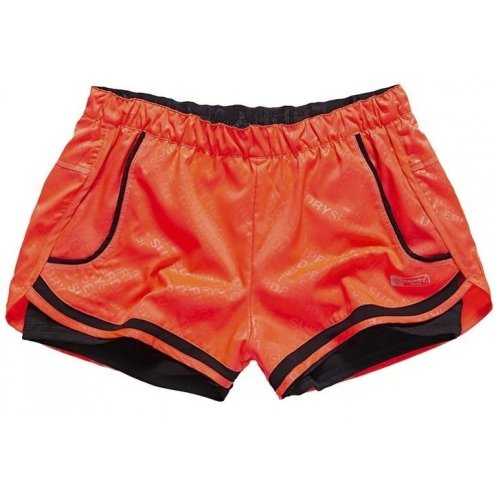Superdry -  Pantaloncini  - Donna rosso