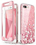 i-Blason Coque iPhone 8 Plus Coque iPhone 7 Plus, Coque Complète Paillette Brillante...