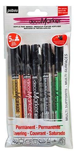 pebeo-205506-set-5-decomarkers-pittura-multicolore-22-x-11-x-2-cm