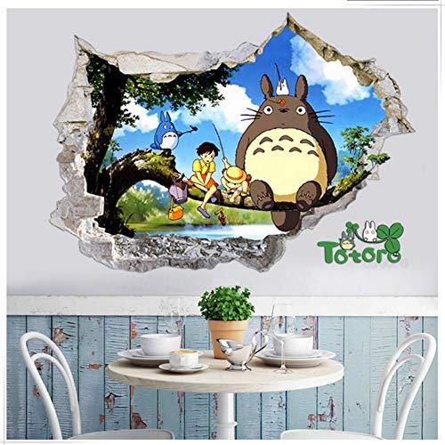 YUSDK Niedliche Cartoon Totoro Anime Abziehbilder tausend und Tausende von 3D Baby Tapete Aufkleber Kinder Raumdekoration