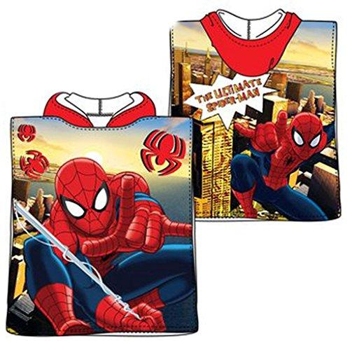 Kinder Marvel Spiderman Poncho Handtuch (Blau)