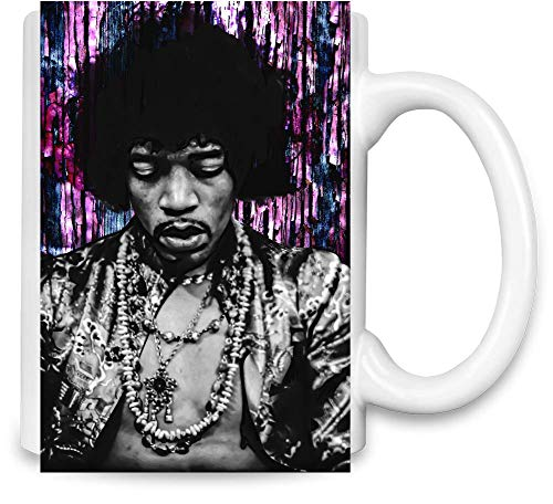 Jimi Hendrix Bunter Colorful Unique Coffee Mug | 11Oz Ceramic Cup| The Best Way to Surprise Everyone On Your Special Day| Custom Mugs by -