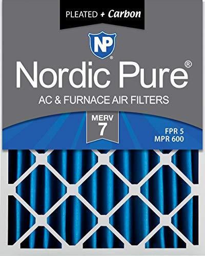 Nordic Pure 20x 25x 4Merv 7Plus Carbon AC Ofen Air Filter, 2Stück - Merv 7 Ofen-filter