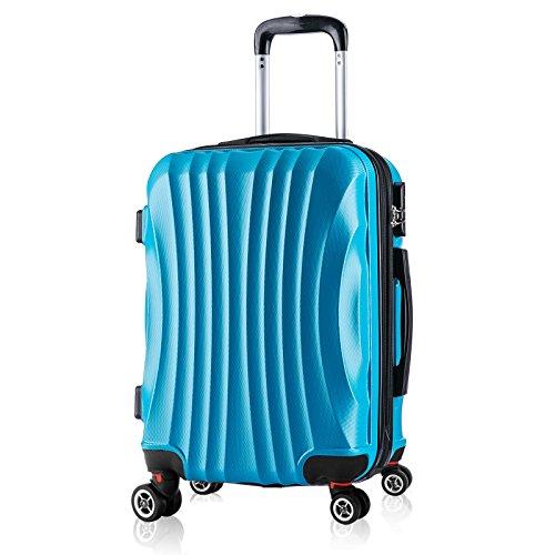 WOLTU RK4213ts-M, Reise Koffer Trolley Hartschale 4 Rollen Volumen erweiterbar, Rei...