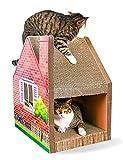 HD2DOG Tiragraffi per Gatti, Torre per Gatti in Carta Ondulata Multifunzionale di Alta qualità per Gatti Gatto Torre per Alberi XTM699