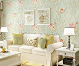 Longless Fleurs, pastorale, tissu, papier peint, salle de séjour, chambre à coucher, télévision, toile, papier peint, fleurs, peinture décorative, 10*0.53M