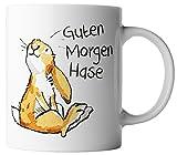 vanVerden Tasse Guten Morgen Hase Ostern Bunny inkl. Geschenkkarte, Farbe:Weiß/Bunt