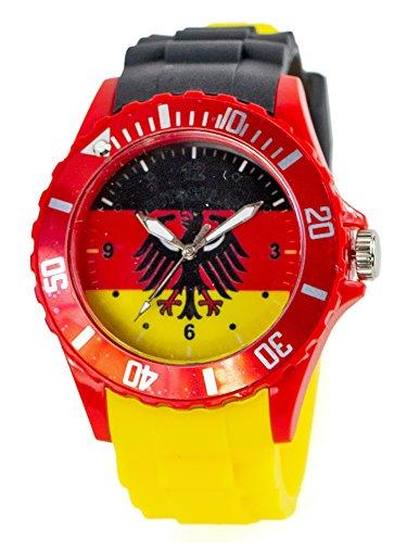 Silikon-Uhr Deutschland-Uhr Fan-Artikel EM WM Armband-Uhr Damen Herren Deutscher Adler