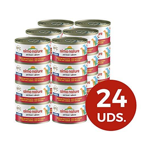 almo nature HFC Cuisine Nourriture pour Chien Boeuf et Jambon 95 g Lot de 24