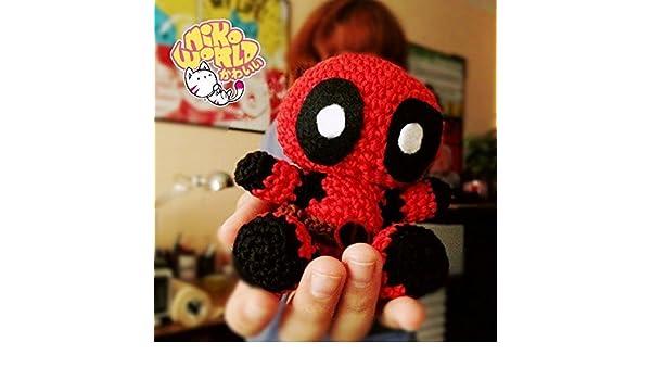 CROCHET-PATTERN: Chibi Deadpool Amigurumi ~ **Instructions Only ... | 350x600