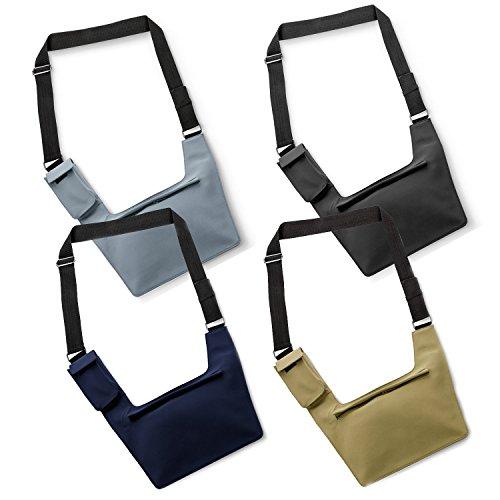 Tasche im flachen Design Geheimtasche Reisetasche für Ihre Sicherheit (Navi) Beige