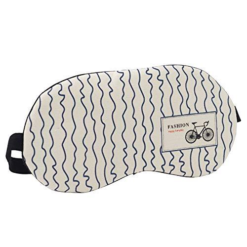 Tchin Schlaf-Augenmaske Mittagspause Reise Baumwollmaterial für Schlaf-Schattierung entlasten Augenermüdung Augenschutz (Form : B)