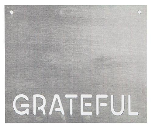 P. Graham Dunn Grateful Stahl Metall Look 19x 16Holz Schablone Wandschild (Schablonen Für Wand-plaques)