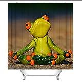 GYMNLJY cortina de la ducha de la rana 3D Impresión espesado Mildewproof resistente al agua de...