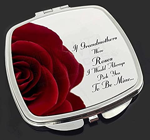 'If Grandmothers Were Roses' Make-Up Compact Mirror Stocking Filler