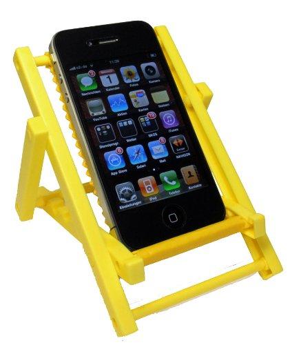 Kar@Kas * Handyhalter 67* Sonnenliege GELB * klappbar für IPHONE Sony Ericsson, Siemens, Nokia, LG