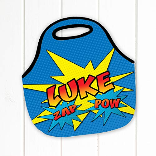 Personalized Lunch Box Comic Book Style Neoprene Lunch Tote Lunch Bag Lunch Box -