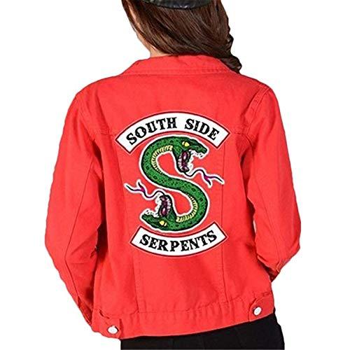 FAIRYRAIN Riverdale Southside Serpents Denim Jacket für Teenager Mädchen Herbst und Winter Damen Jeansjacke Kostüm Jacke S/Tag L
