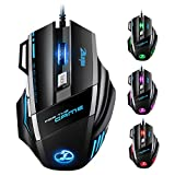 VicTsing Zelotes Mouse da Gioco USB con 7 Pulsanti LED Mouse Gaming Ottico DPI Regolabile 7200DPI / 3200DPI / 2400 DPI / 1600 DPI / 1000 DPI per Pro Gioco Gamer Mac PC Laptop Desktop Notebook
