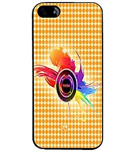 PrintDhaba Random Design D-4859 Back Case Cover for APPLE IPHONE 4 (Multi-Coloured)