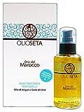 Olioseta Oro del Marocco Olio Trattante per Capelli Olio di Argan e Semi di Lino 100ml