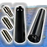AutoScheich® Universal 5cm Antenne Stabantenne Kurz für Auto KFZ Antennenfuss Sockel Radio Navi GPS GSM Dachantenne M6 M5 M4 Adapter